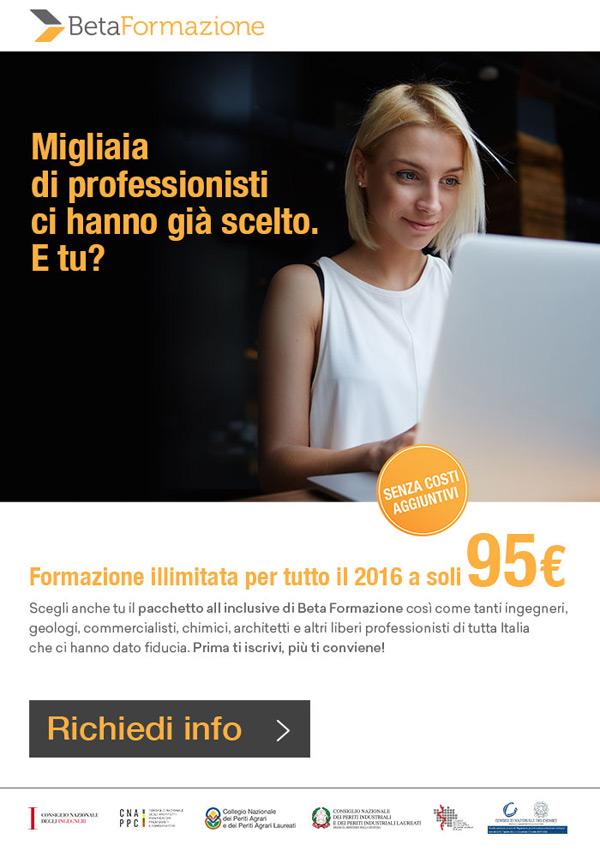BetaFormazione. Formazione illimitata per tutto il 2016 a soli 95€