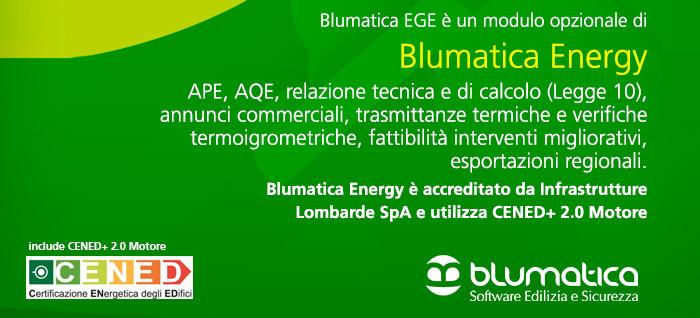 Blumatica EGE è un modulo opzionale di Blumatica Energy