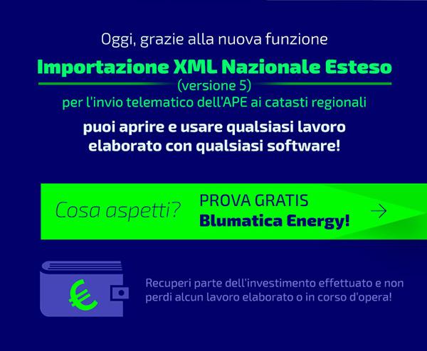 Oggi puoi aprire e usare qualsiasi lavoro elaborato con qualsiasi software grazie all'importazione del file XML Nazionale Esteso per l'invio telematico dell'APE ai catasti regionali