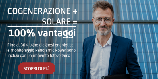Cogenerazione + solare = 100% vantaggi
