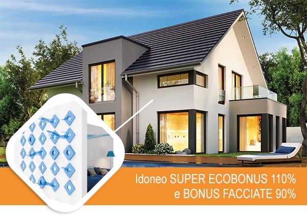 Idoneo Super Ecobonus 110% e Bonus facciate 90%