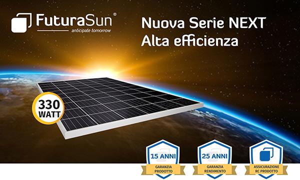 FuturaSun - Nuova serie NEXT alta efficienza