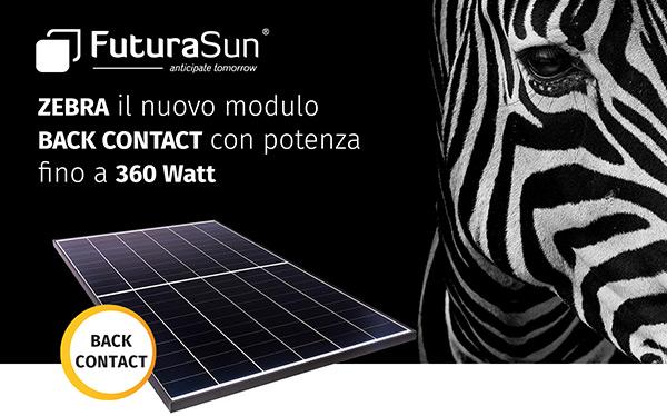 FuturaSun - Zebra il nuovo modulo Back Contact con potenza fino a 360 Watt