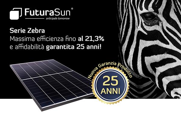 FuturaSun - Serie Zebra: massima efficienza fino al 21,3% e affidabilità garantita 25 anni!