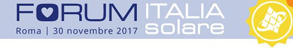 Forum Italia Solare - Roma | 30 Novembre 2017