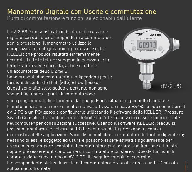 Trasmettitori di Pressione e Manometro Digitale 7