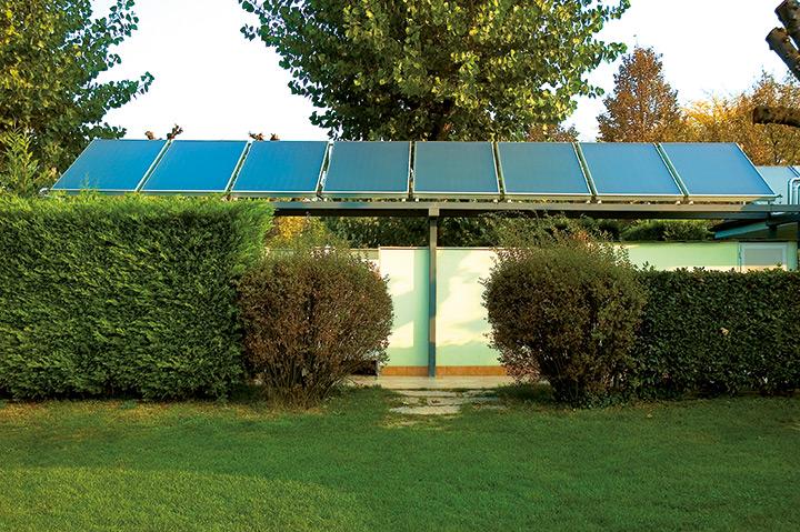 Collettori solari piani con telaio in alluminio