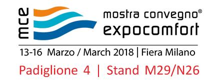 MCE 2018 - Padiglione 4, Stand M29/N26