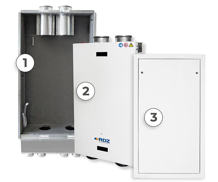 Nuova WHRI di RDZ - Unità di ventilazione meccanica a parete