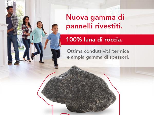 Nuova gamma di pannelli rivestiti 100% lana di roccia