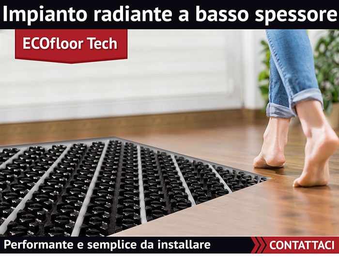 Rossato Group. ECOfloor Tech: impianto radiante a basso spessore