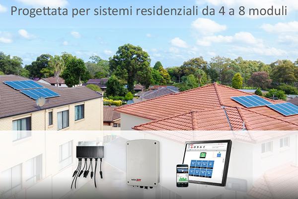 Progettata per sistemi residenziali da 4 a 8 moduli