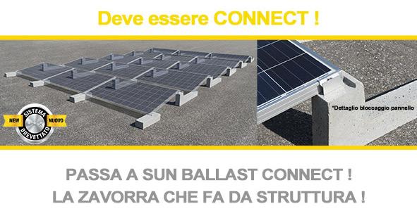 Una struttura per fotovoltaico su tetto piano non deve essere necessariamente pesante o complessa. Deve essere Connect!