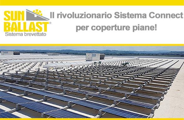 Sun Ballast - Il rivoluzionario Sistema Connect per coperture piane!