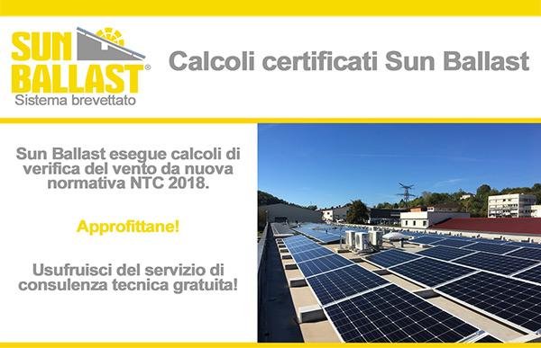 Sun Ballast - Calcoli certificati
