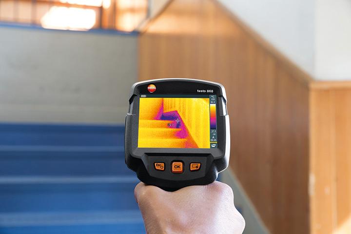 Termocamera testo 868 - Application building moisture