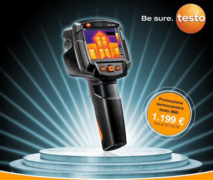Promozione termocamera Testo 868: 1.199€. Fino al 31/12/19