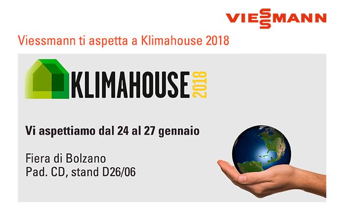 Viessmann ti aspetta a Klimahouse 2018