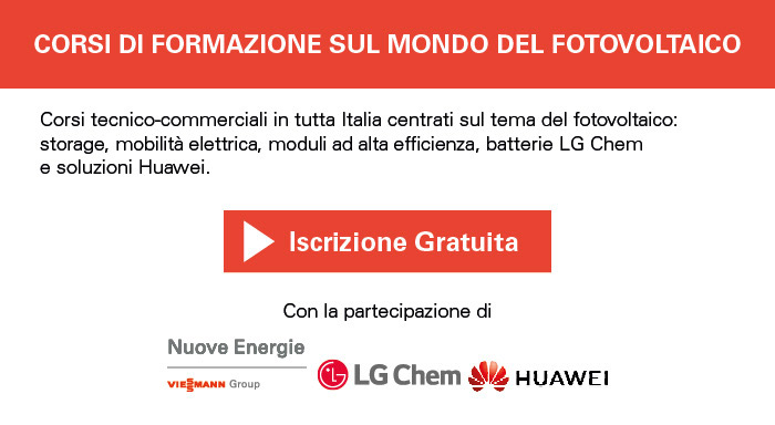 Corsi tecnico-commerciali in tutta Italia centrati sul mondo del fotovoltaico. Iscrizione gratuita