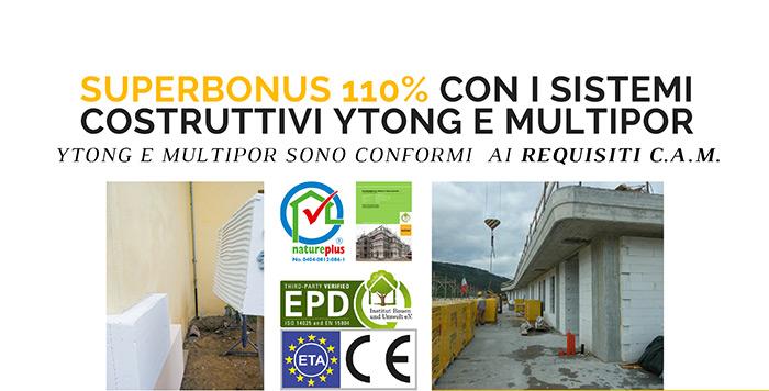 Superbonus 110% con i sistemi costruttivi Ytong e Multipor