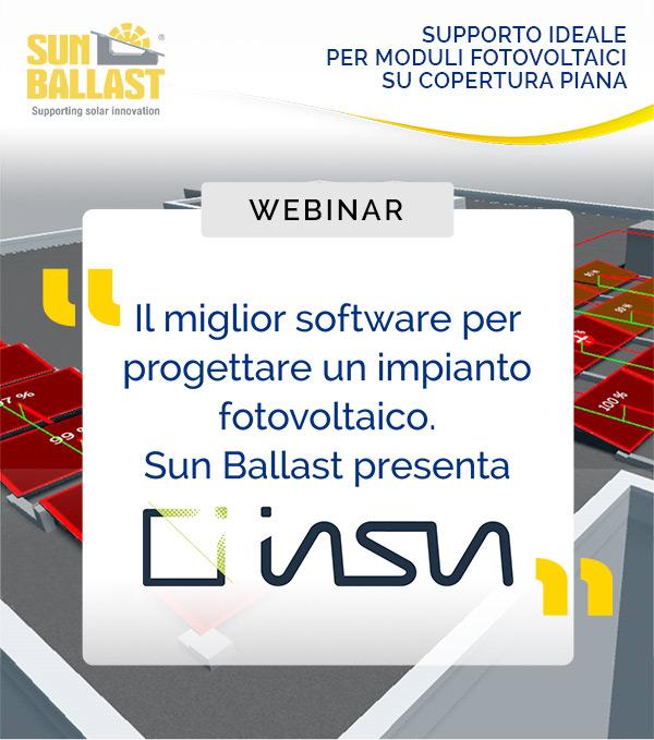 Webinar - Il miglior software per progettare un impianto fotovoltaico. Sun Ballast presenta INSUN